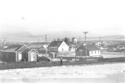 Houses, Grain Elevator Dawson Creek, BC 1959
