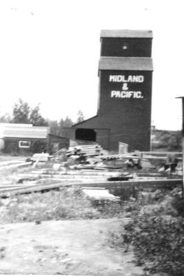 Midland and Pacific Grain Elevators Dawson Creek, BC ca 1936