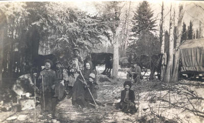 Miller Family, a Stopping Place 1911-12