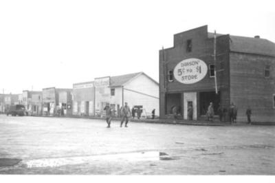 Dawson 5 cents to $1 Store Fire and Explosion Dawson Creek, BC February 13, 1943