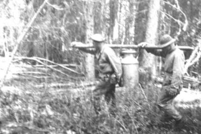 341st Engineers Company D Camp Life Alaska Highway, 1942