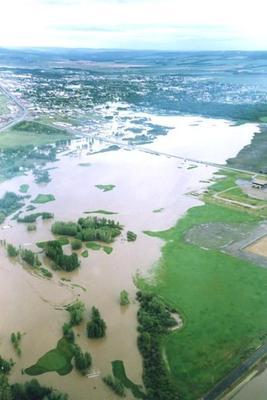 Dawson Creek, Flood 1990