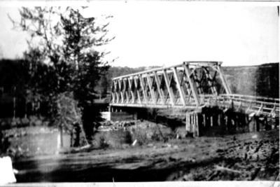Kiskatinaw Bridge on the Old Fort St. John, road before 1943