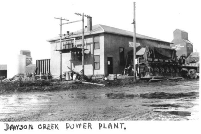 Power plant, 102nd Ave at 12A Street Dawson Creek, BC 1942-43