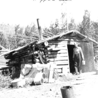 Trapper and Cabin Yukon Territory 1942-43
