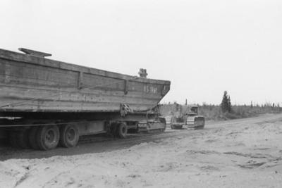 Canol Project NWT Two Caterpillar Diesel D8 July 1943