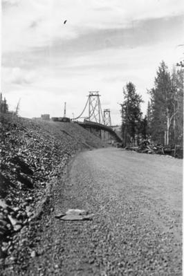 Peace River Bridge Taylor BC Aug 1943