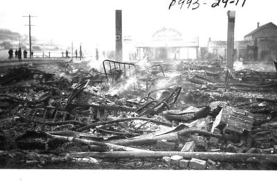 Fire and Explosion Dawson Creek, BC Feb. 1943