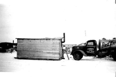 Clapperton, NantonTruck, Living Quarters Dawson Creek, BC, Feb 1943