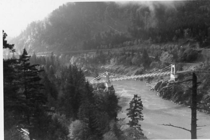 Unidentified bridge, Highway 97, B.C. 1951