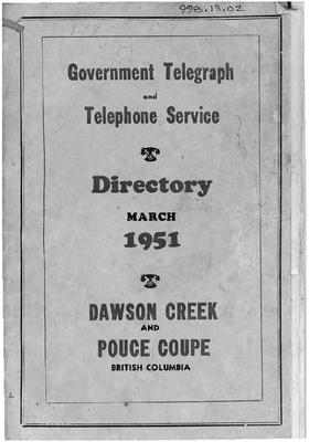 1951 Telephone & Directory