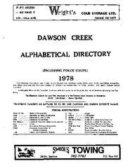 1978 Dawson Creek City Director