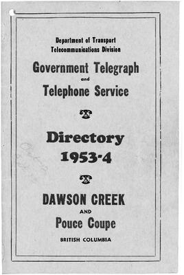 1953-54 Telephone Directory