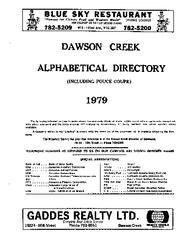 1979 Dawson Creek City Directory