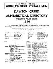 1970 Dawson Creek City directory