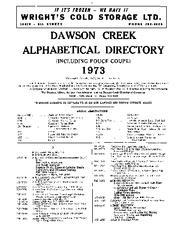 1973 Dawson Creek City Directory