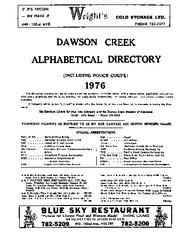 1976 Dawson Creek City Directory