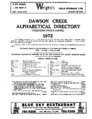 1975 Dawson Creek City Directory