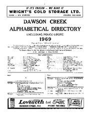1969 Dawson Creek City Directory