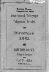 1952 Telephone & Directory, Pages 15 to 18 Missing