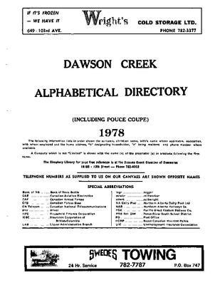 1978 Dawson Creek City Director