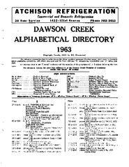 1963 Dawson Creek City Directory