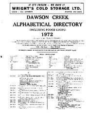 1972 Dawson Creek City Directory