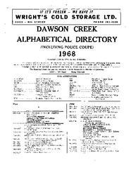 1968 Dawson Creek City Directory
