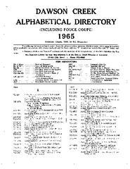 1965 Dawson Creek City Directory