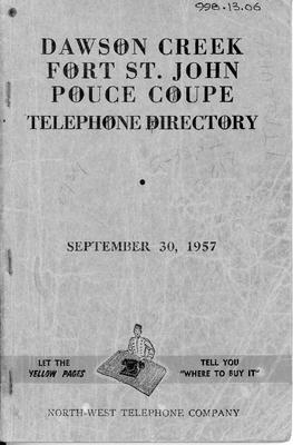 1957 September Telephone & Directory