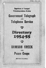 1954-55 Telephone Directory
