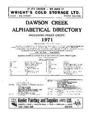 1971 Dawson Creek City Directory
