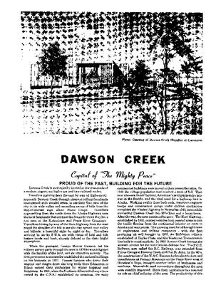 1981 Dawson Creek City Directory