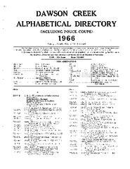1966 Dawson Creek City directory