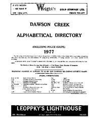 1977 Dawson Creek City Directory