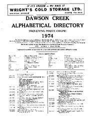 1974 Dawson Creek City Directory