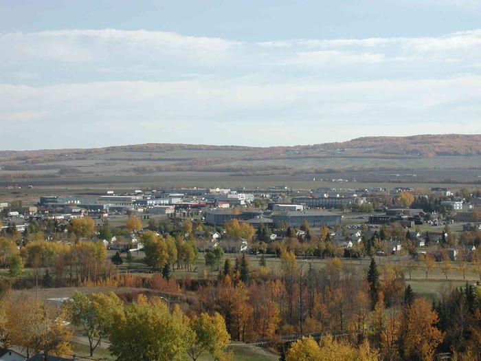 Dawson Creek, BC, View from Crane, 2003