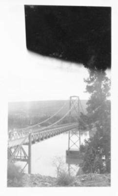 Peace River Bridge at Taylor, B.C. 1943-44