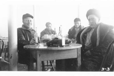 Beer day at the Condill saloon in Ft. St. John, December, 1942