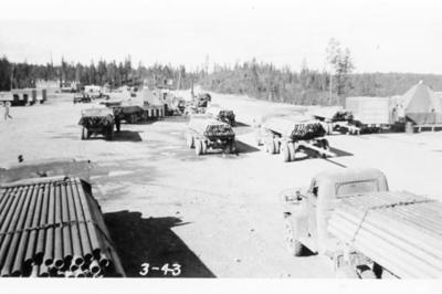 Watson Lake Army re-fuelling station.