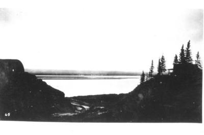 The great and fabulous Mackenzie River at Camp Canol, 50 miles below the Arctic Circle This picture of North America's second larges river was taken in the early fall of 1943.