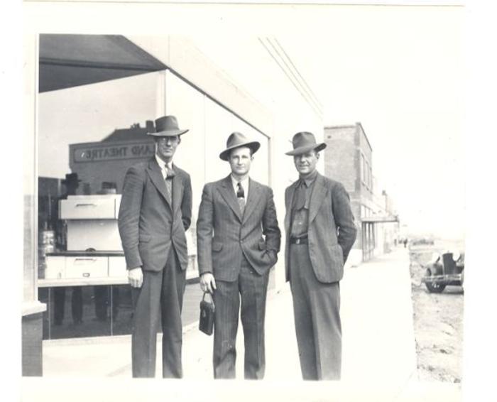 TJ Brooks on left. Dawson Creek, BC 1942-1943