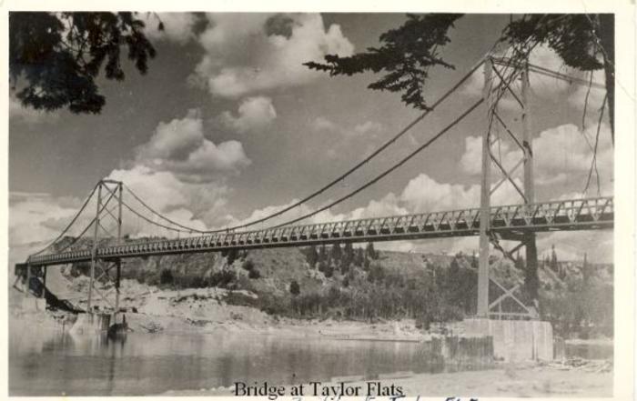 Peace River Bridge, Taylor, BC ca 1943