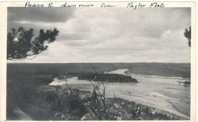 Peace River, down stream from Taylor, BC 1942-1943