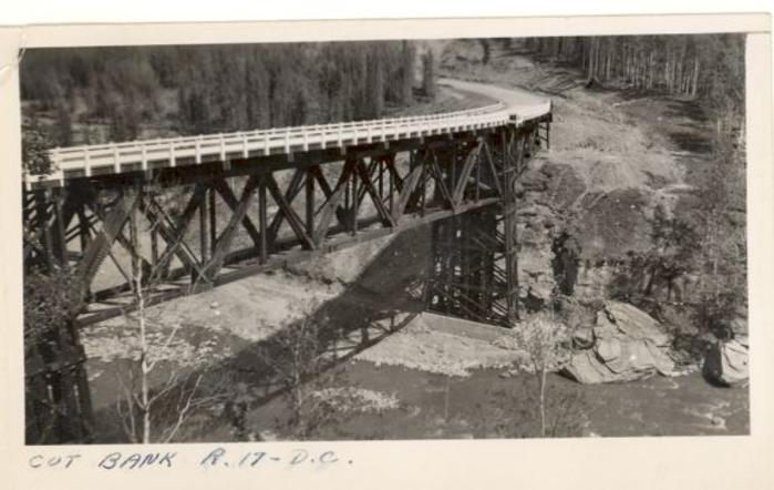 Kiskatinaw Bridge finished, Alaska Highway, ca 1943