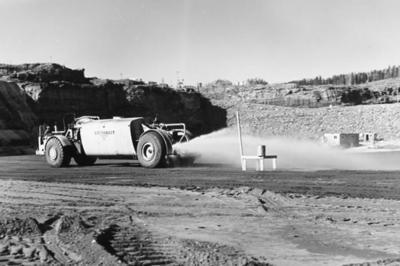 BC Hydro Bennett Dam  12,000 Gallon sprinkler truck