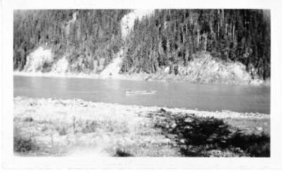 Boat on the Peace River, B.C. 1938-1946