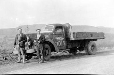 Caswell Contracting Truck, Alaska Highway, 1942-1943