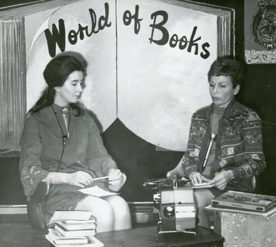 "Sylvia Conner interviews June Jackson of Dawson Creek Public Library on TV program ""World of Books"", November 1969"