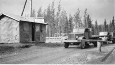 Army control station, Brook's Brook, Alaska Highway, 1942-1943
